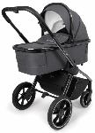 Muuvo, Quick 3.0 Black Chrome - wózek z gondolą XL i wyposażeniem
