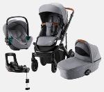 Britax Romer, Smile 3 Komfort Plus - wózek głęboko-spacerowy z fotelikiem Baby-Safe 3 i-Size i bazą Flex Base iSense 4w1