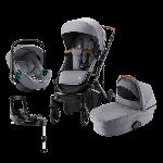 Britax Romer, Smile 3 Komfort Plus iSense - wózek głęboko-spacerowy z fotelikiem Baby-Safe iSense i bazą Flex Base iSense 4w1