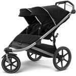 Thule, Urban Glide 2 Double Jet Black - wózek do biegania dla dwójki dzieci
