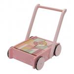 Little Dutch, Wózek z Klockami 1+-Róż Flowers zdjęcie
