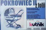 Kutnik, Folia, Osłona, Pokrowiec przeciwdeszczowy na wózek głęboki model II
