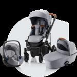 Britax Romer, Smile 3 Komfort - wózek głęboko - spacerowy z fotelikiem Baby-Safe 3 i-Size 3w1