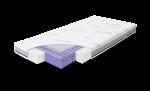 Rucken, Aero - materac pianka antybakteryjna HR 35 + mata 3D 140x70