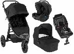 Baby Jogger, City Elite 2 - zestaw 4w1 : wózek głęboko-spacerowy z bazą isofix i fotelikiem 0-13 kg