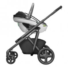 Maxi Cosi, Coral i-Size - fotelik samochodowy dla dzieci od urodzenia do ok. 12 miesiąca, od 45 do 75 cm, do 13 kg montaż na stelażu wózka Maxi Cosi