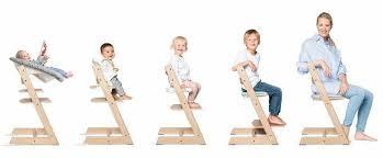 Stokke, Tripp Trapp - rosnące krzesełko do karmienia etapy użytkowania