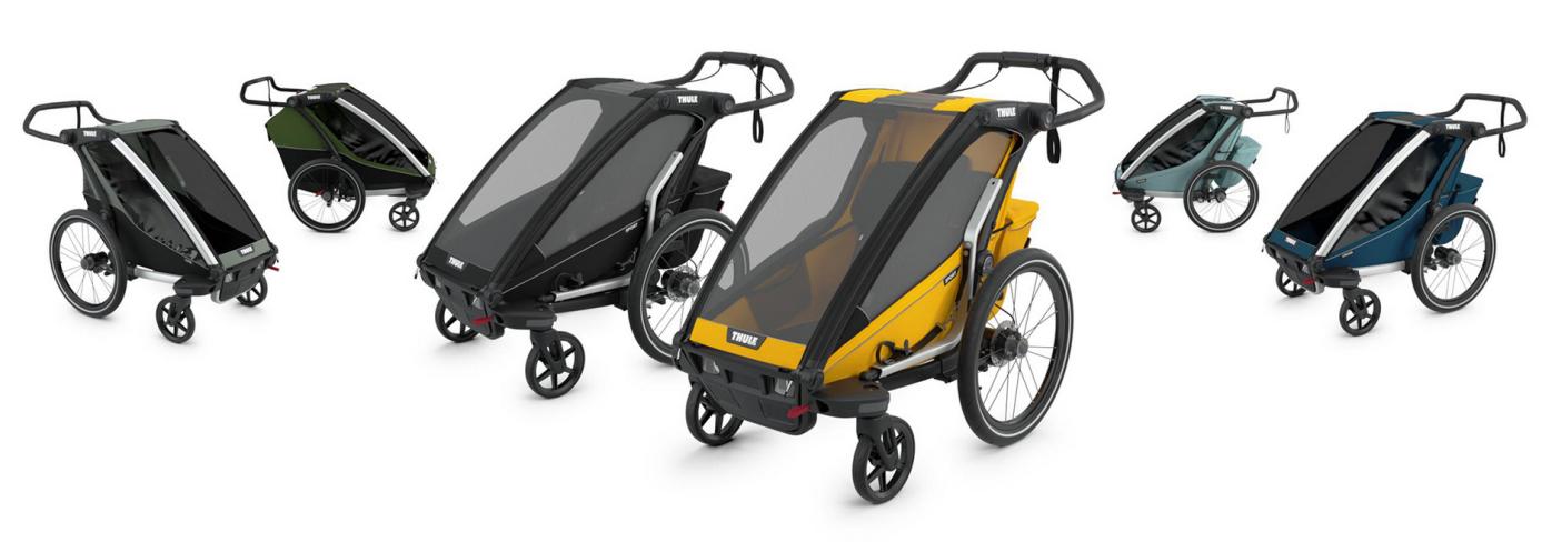 Thule, Chariot Lite 1 - Przyczepka rowerowa dla dziecka kolorystyka