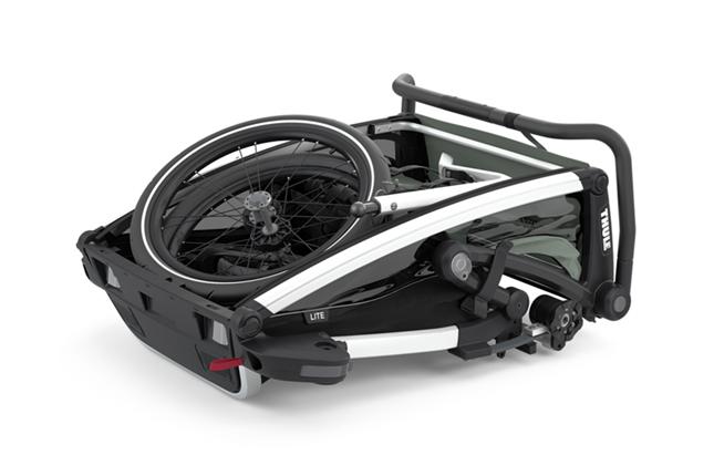 Thule, Chariot Cross 1 - Przyczepka rowerowa dla dziecka złożona