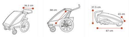 Thule, Chariot Cross 1 - Przyczepka rowerowa dla dziecka wymiary