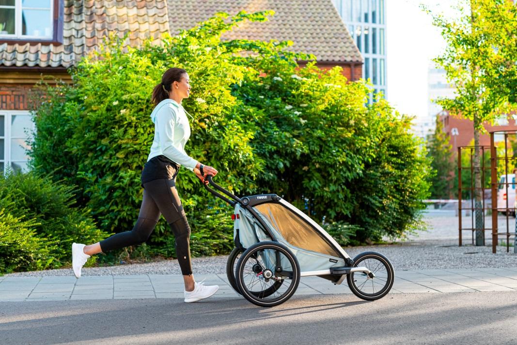 Thule, Chariot Cross 1 - Przyczepka rowerowa dla dziecka i wózek do biegania