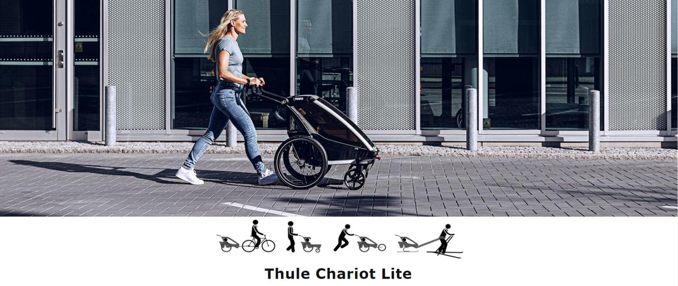 Thule, Chariot Lite 1 - Przyczepka rowerowa dla dziecka do miasta i do lasu