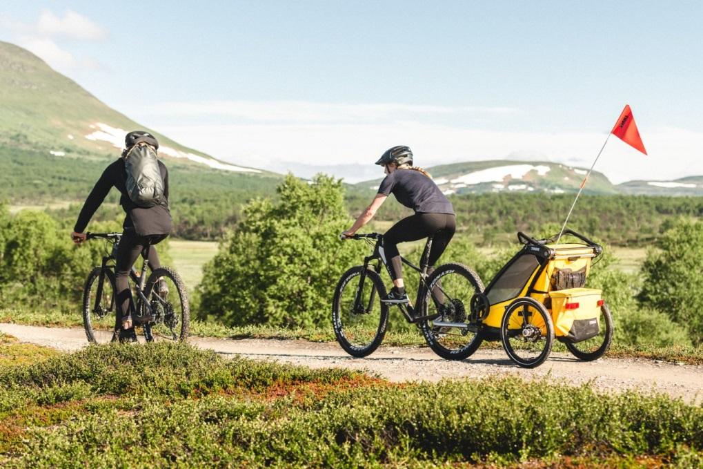 Thule, Chariot Sport 1 - Przyczepka rowerowa dla dziecka z chorągiewką