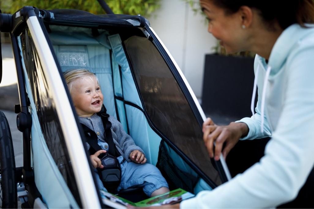 Thule, Chariot Sport 1 - Przyczepka rowerowa dla dziecka wygodne sieedzisko