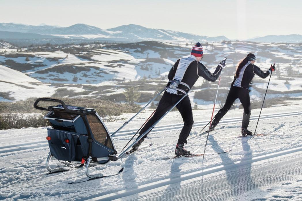 Thule, Chariot Cross 1 - Przyczepka rowerowa dla dziecka do biegów narciarskich