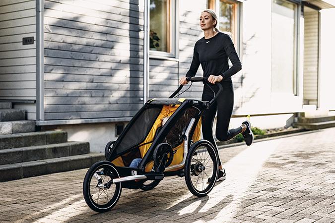 Thule, Chariot Sport 1 - Przyczepka rowerowa dla dziecka w kolorze Spectra Yellow on Black