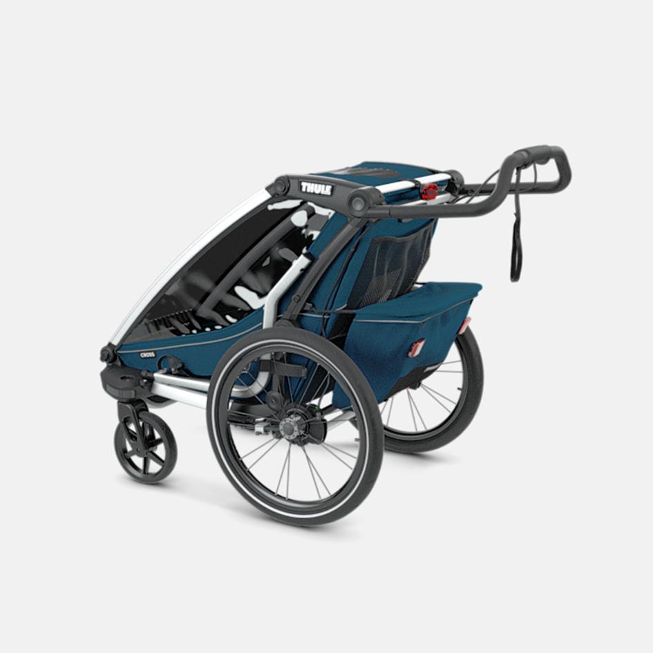 Thule, Chariot Cross 1 - Przyczepka rowerowa dla dziecka tylny kosz