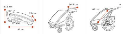 Thule, Chariot Sport 1 - Przyczepka rowerowa dla dziecka wymiary