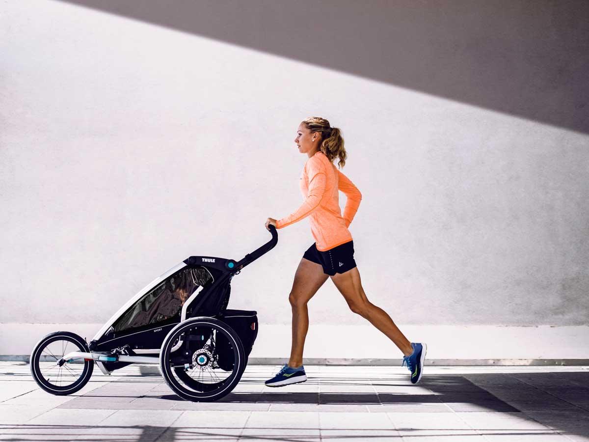 wózek do biegania, przyczepka rowerowa